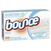 Bounce Free & Sensitive Fabric Softener Sheets 120 Count
