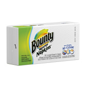 Bounty Quilted Napkins, White, 100 Count