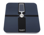 Balance Living TM Precision LIFE TRACK Body Analysis Scale w/ 180kg. Capacity & Auto Recognition Technology