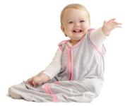 Baby Deedee Sleep Nest Lite Baby Sleeping Bag, Heather Grey Bubble Gum, Small