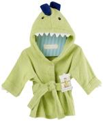 Baby Aspen, Splash-a-Saurus Dinosaur Hooded Spa Robe, Green, 0-9 Months