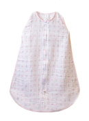 SwaddleDesigns zzZipMe Sack with 2-Way Zipper, Muslin Wearable Blanket, Posies, Pink 3-6 Months