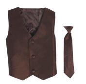 Vest and Clip On Necktie set - Multiple Colours - Baby Infant Toddler Boys Tween Sizes
