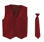 Vest and Clip On Necktie set - Multiple Colours - Baby Infant Toddler Boys Tween Sizes