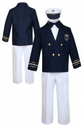 Unotux Baby Boys Toddler Navy Captain Sailor Suit Formal White Pants Outfits S-7