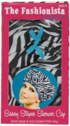 """Betty Dain Stylish Design Mould Resistant Shower Cap, The Fashionista Collection, """"sassy Stripes"""" by Betty Dain Creations, Inc. [Beauty]"""