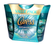 Caress Emerald Rush Lush Gardenia & White Tea Essence Body Wash - Value Pack
