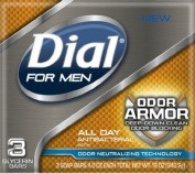 Dial For Men Odour Armour Soap 120ml (3Pk), Pack of 18