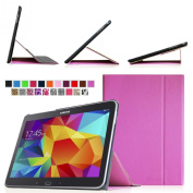 Fintie  for Samsung  Galaxy Tab 4 10.1 (25cm ) Smart Book Cover Case - Ultra Slim Light Weight Stand Supports Three Viewing Angles (with Auto Sleep/Wake Feature ), Violet