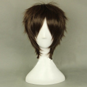Sunny-business Anime Attack on Titan Eren Jaeger Dark Brown of Cosplay Wig