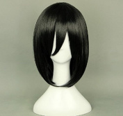 Sunny-business Anime Attack on Titan Black Mikasa Ackerman of Cosplay Wig