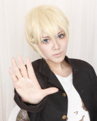 Taobao Buildng Inu x Boku SS - Banri Watanuki Messy Blond Hair Short Cosplay Wig Anime Show Costumes Party Wigs