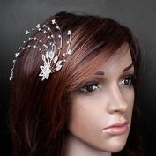 Beautiful Silver Hiar Comb Crystal Rhinestone Hairpin Bride Hair Accessories