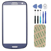 Pebble Blue Screen Glass Lens for Samsung Galaxy S3 S III i9300 Replacement