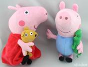 New Large Peppa PIG + George PIG Soft Plush Toys Set 30cm