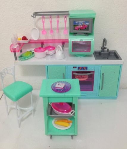 Barbie Size Dollhouse Furniture Cooking Corner Kitchen