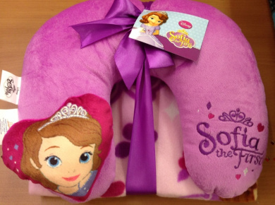 Sofia the First Neck Pillow and Throw Blanket Set by Disney - Shop Online for Toys in the United ...