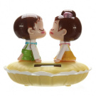 MaxSale Kiss Baby Solar Energy Car Models Decoration