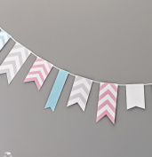 Ginger Ray Chevron Bunting Hanging Party Decoration - Chevron Divine