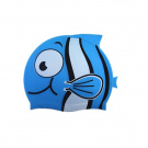 Cute Cartoon Animal Fish Silicone Kids Child Swimming Bathing Head Cover Cap Hat Octopus Blue