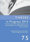 Theses in Progress 2014