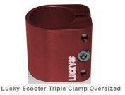 LUCKY SCOOTER TRIPLE CLAMP OVERSIZED RED