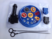 Beyblade Set (4 Beyblades+2 Launchers+4 Tips+2 Bolts +1grip+1arena)beyblade With Arena As Children Gift