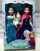 Toy 28cm doll Girls High Frozen Elsa And Anna Princesses Anime Dolls With 1 Piece Snowman Olaf Boxed Od0035