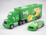 New Pixar Cars Chick Hick #86 & Mack Superliner Truck Diecast Metal Uncle Mack Cars