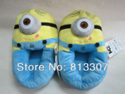 1 Pair 28cm  Soft Minion Stuffed Despicable Me Slippers Collectible Cuddly Stewart Plush Slipper Toys