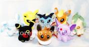 8pcs/lot Pokemon Plush Toys 13cm  Umbreon Eevee Espeon Jolteon Vaporeon Flareon Glaceon Leafeon Animals Soft Stuffed