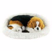 Toy Sleeping Dog Looks Real Breathing Dog Sleeping