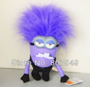 Cool Despicable Me 2 Jumbo Purple Evil Minion Plush Doll Toy 3d Eye 30cm  New