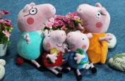 "4 Pcs Peppa Pig Family Plush Doll Stuffed Toy Daddy & Mummy Peppa & George Cartoon Kids Gift Toy8""-30cm"