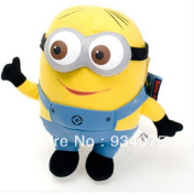 New Despicable Me 3d Eyes Soft Toy Doll Plush Minions Dave