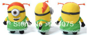 New Despicable Me 3d Eyes Soft Toy Doll Plush Minions Green Dress