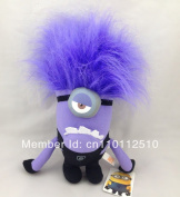 Best Xmas Gift Despicable Me 2 Evil Minion Plush Toy 30cm  One Eye Purple Stuffed Animal Dollbest Sell