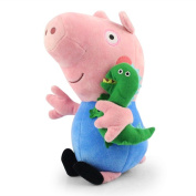 """Sale 12"""" 30cm Blue Peppa Pig And George Pig With Dinosaur Plush Doll Soft Toy"""
