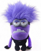 New Birthday Gifts 30cm  Despicable Me 2 Evil Two Eyed Purple Minion Plush Toy Bad Minion