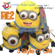 One Piece Free Shpping 17cm/7inch 3d Eyes Minion Plush Original Despicable Me 2 Movie Plush Baby Toy Jorge Stewart Dave With Tag