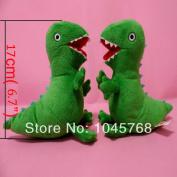 Height 17cm Peppa Pig Plush Toys George Pig Pet Green Dinosaur Cartoon Soft Stuffed Plush Kids Toys Birthday Gift 14-007