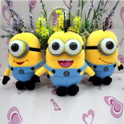 Newest Funny Fancy 1pc Despicable Me Movie Plush Toy Children's Doll 18cm Minion Jorge Stewart Dave Free &