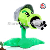 Rare Collectible 30cm  Popcap Gatling Peashooter Plush Toy,plant Vs Zombies Plush Dolls