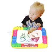 Salenew Educational Baby Children Play Polyester Paint Toys Mat& Doodle Magic Pen/water Drawing Board 29*19cm