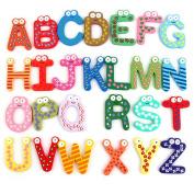 26 Pcs A Set Kids Educational Toy Wood Letters Alphabet Learning Fridge Magnet Drop