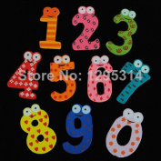Set Of 10 Number Wooden Cute Fridge Magnet Kid Baby Education Learning Toy Gift Zqueb