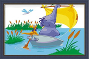 Diy oil painting, paint by number kits for kids - Elephant punt 20X30cm.