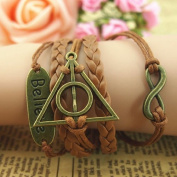 "Libaraba(TM) ""Infinity Believe"" Vintage Deathly Hallows Bracelet,Bracelet For Girls,Women"