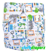 Einstein White Baby Cloth Nappies Disposable Nappies Cute Colourful Print One Size