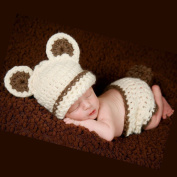 FuzzyGreen® Pretty Unisex Bear Design Crochet Knitted Baby Outfits